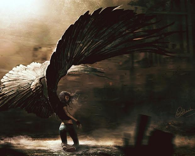 Itz Wings. .dark Angels.called Devils