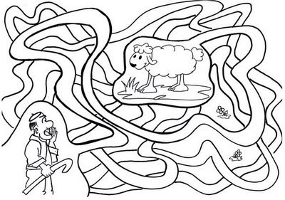 Galeria Arte Dibujos Para Colorear Parábola De La Oveja Perdida