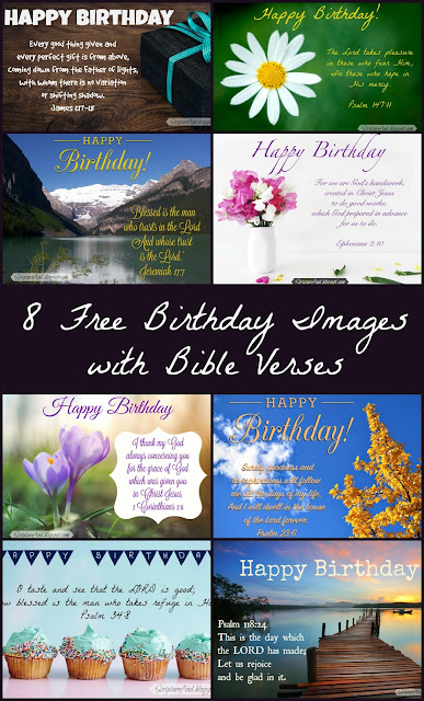 8 Free Birthday Images with Bible Verses from ScriptureAnd.blogspot.com
