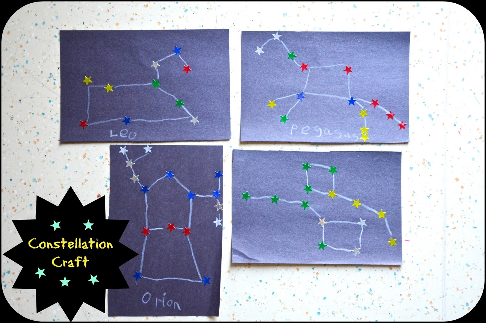 No Wooden Spoons Constellation Craft For Kids