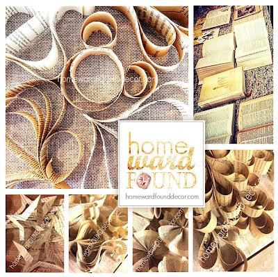 homewardFOUNDdecor vintage paper ornaments