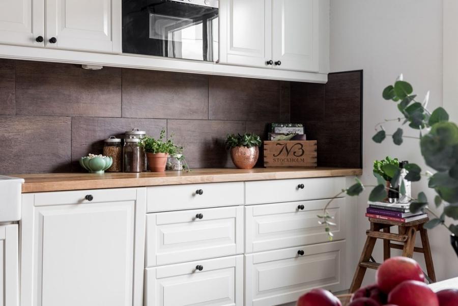 Skandynawska prostota z nutką pasteli i humoru, wystrój wnętrz, wnętrza, urządzanie mieszkania, dom, home decor, dekoracje, aranżacje, styl skandynawski, scandinavian style, biel, white, kuchnia, kitchen, jadalnia