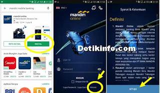 aktivasi akun mandiri Online dari aplikasi android