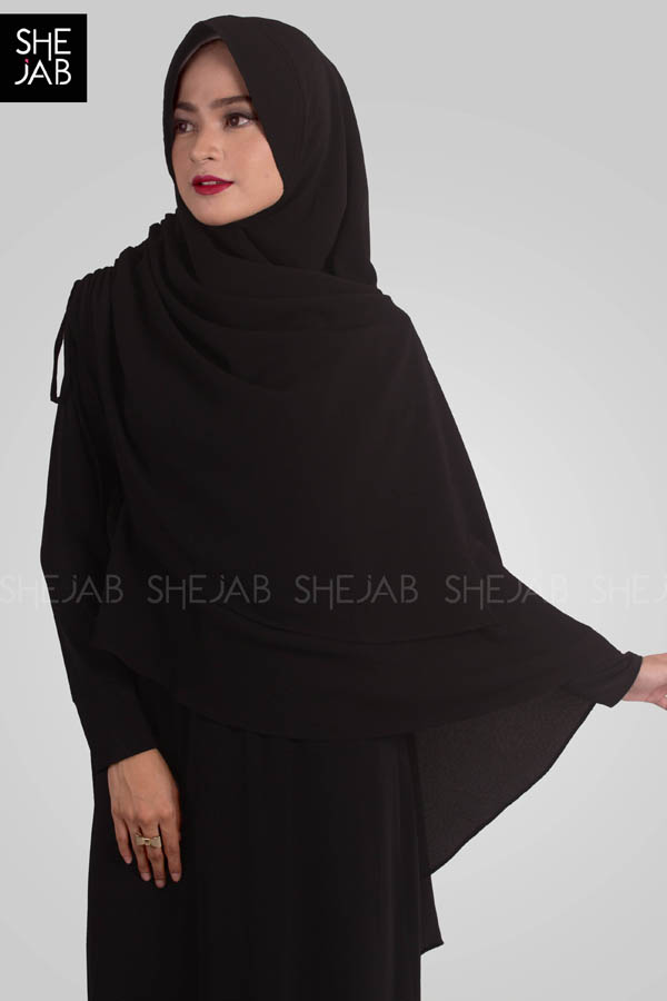 Khimar Syar'i Yoana Black