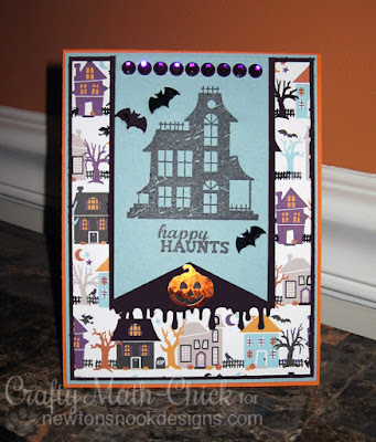 Halloween Houses card by Crafty Math Chick | Spooky Street by Newton's Nook Designs