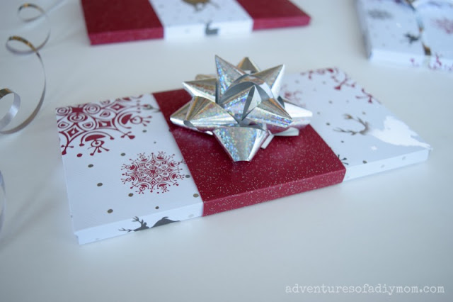 Gift Wrapping Idea with Scrapbook Paper