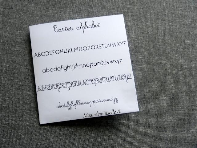 || Cartes à télécharger gratuitement ; L'alphabet