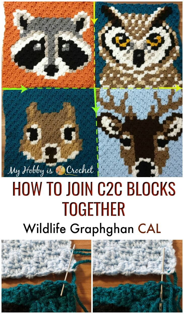 How to join c2c Animal Blocks together - Wildlife Graphghan