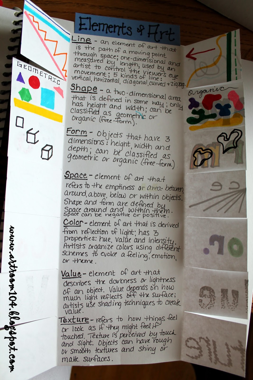 Art Room 104 Studio Art The Elements Of Art And Prang Markers