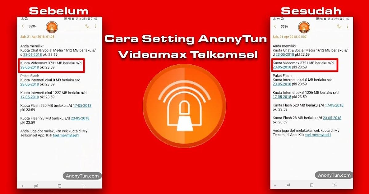 Cara Setting Anonytun Ubah Kuota Videomax Telkomsel Ke Kuota Reguler