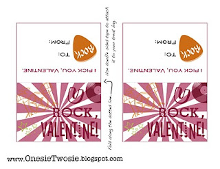 Rockin Valentine Printable and Valentine Link Party @michellepaigeblogs.com