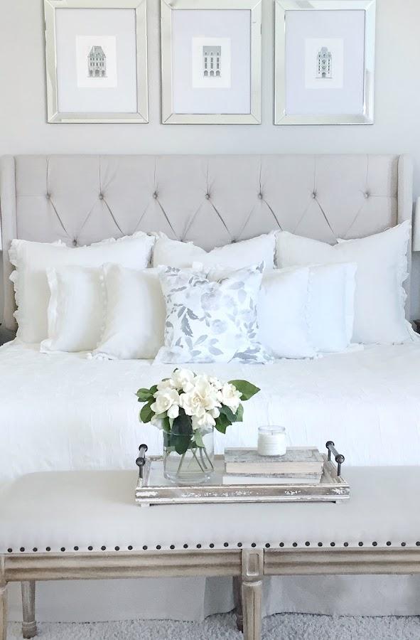 dormitorio glam chic decorado