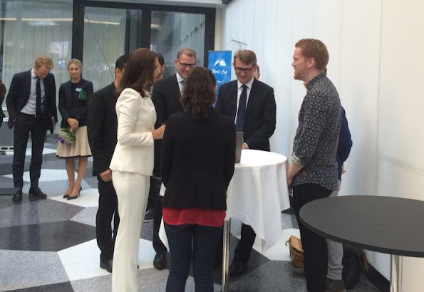 "Crown Princess Mary of Denmark attends the ceremony of the ""University Startup World Cup 2015 Prize"" at the House of Industry"