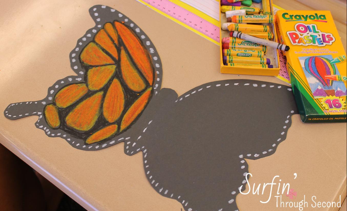 Primary Chalkboard Butterfly Art