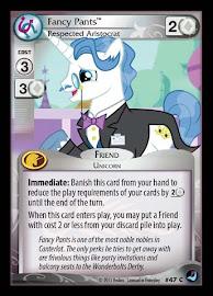 My Little Pony Fancy Pants, Respected Aristocrat High Magic CCG Card