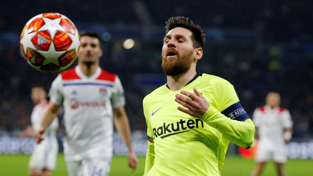 FC Barcelona Lionel Messi Vs Olympique Lyon