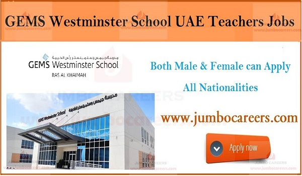 Latest walk in interview jobs in Ras Al Khaima, Teachers jobs in UAE,
