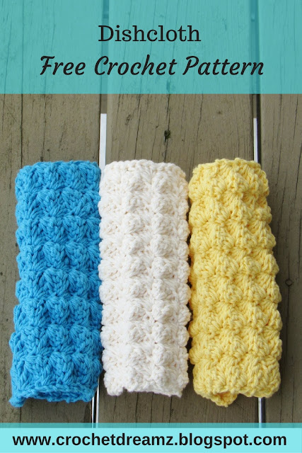 Dishcloth crochet pattern