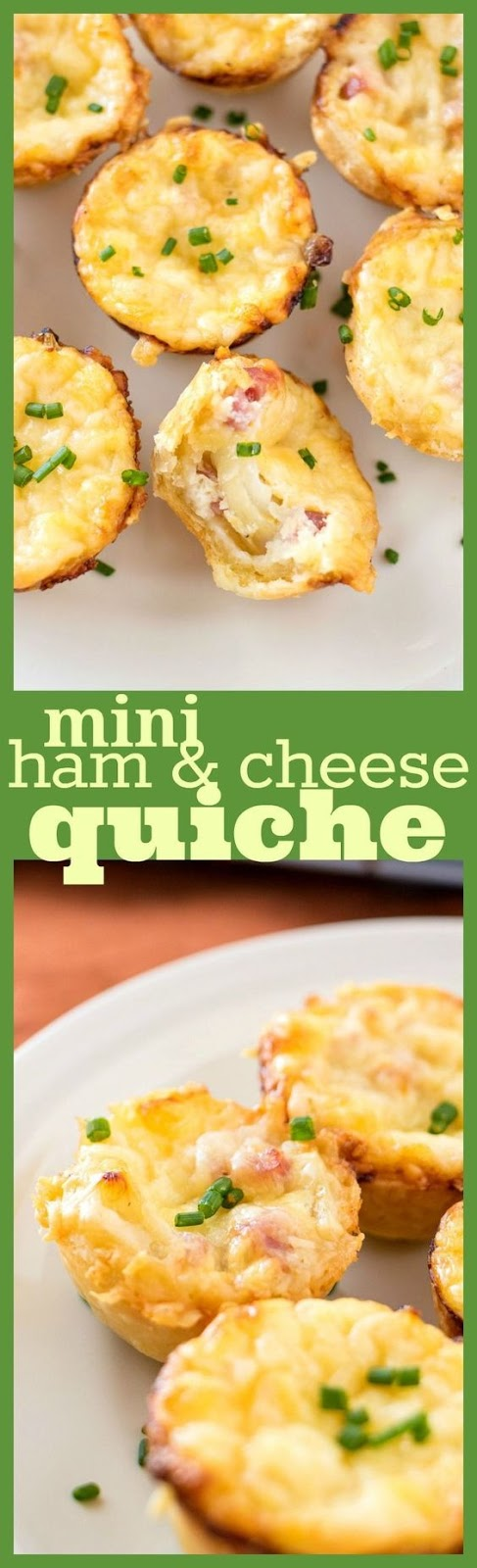 Mini Ham & Cheese Quiche with Caramelized Onions