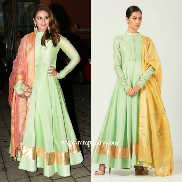 Huma Qureshi In Aditi Somani Anarkali Suit