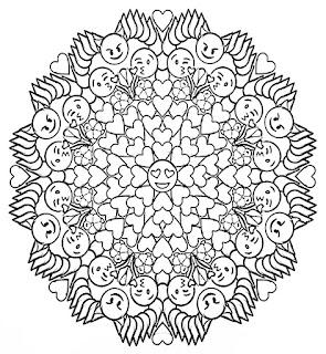 Emoji Mandala Coloring pages
