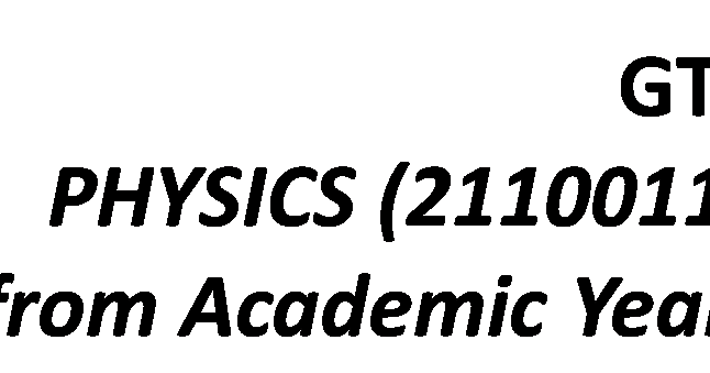 PHYSICS (2110011) Syllabus (Effective from Academic Year