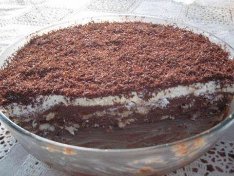 Pavê crocante de chocolate