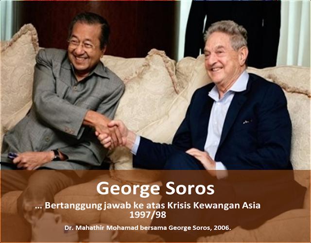 Tun Dr Mahathir Mohamad dan George Soros