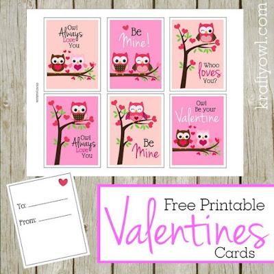 http://www.kraftyowl.com/free-printable-valentines-cards/