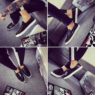 Sepatu Distro Pria Korea Model Terbaru Mei 2016