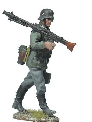 figura escala 1/30 pintada tirador MG42