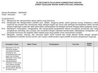 Silabus Adminsitrasi Server SMK Kelas XII