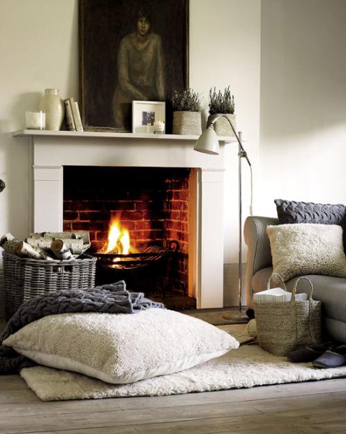 coin cheminée design scandinave