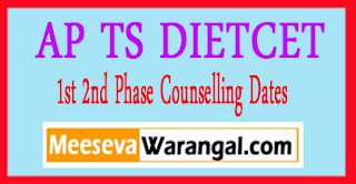 AP TS DIETCET 1st 2nd Phase Counselling Dates Released