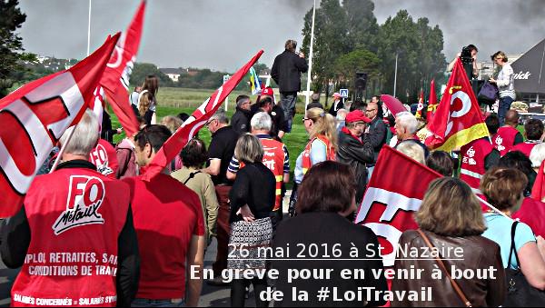 #LoiTravail : Grève et manifestation le 26 mai à St. Nazaire