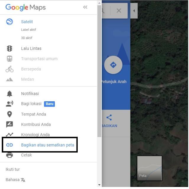 Cara Menambah Petunjuk Arah/Map Untuk Blog/Website