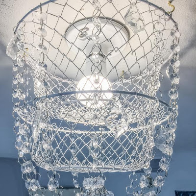 Crystal chandelier out of a basket