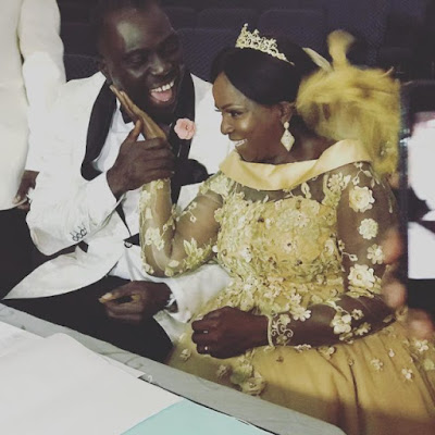 Simi's mother & husband
