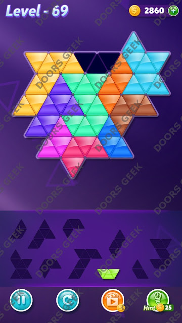 Block! Triangle Puzzle Master Level 69 Solution, Cheats, Walkthrough for Android, iPhone, iPad and iPod