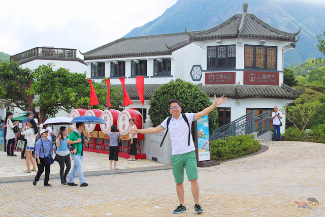 Renz Cheng in Ngong Ping Village