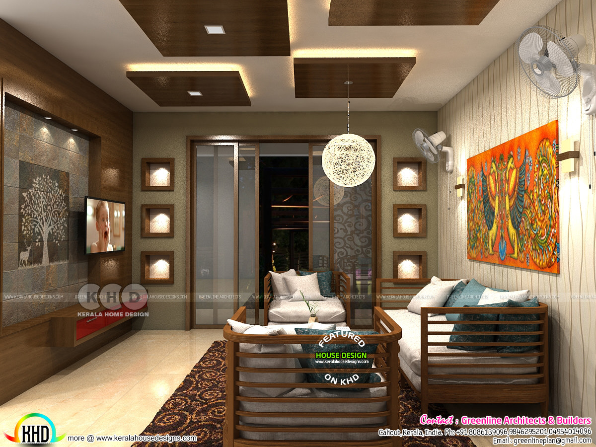 Modern interior designs of 2018 kerala home design and - Contemporary home interior design ...