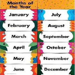 أشهر السنة  Georgian Calendar