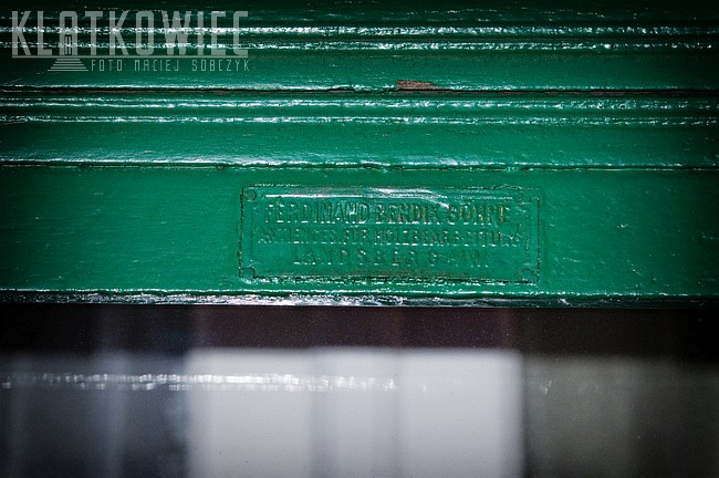 Wronki. Przedwojenna witryna sklepowa. Ferdinand Bendix Söhne Aktienges. für Holzbearbeitung Landsberg