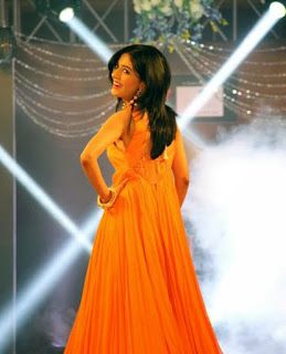 Amrita Rao in Orange Gown as Show Stopper