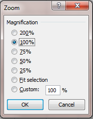 Zoom tool 2 excel 2007