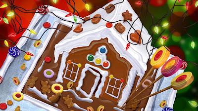 Huisje van koek en snoep
