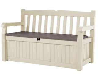 Keter All Weather Outdoor Patio Bench Deck Box