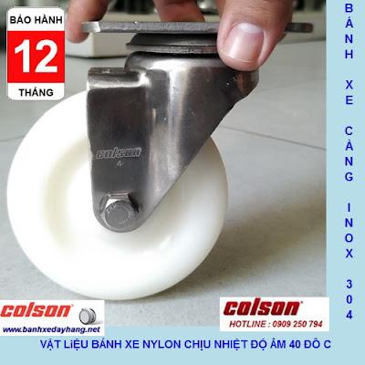 Bánh xe đẩy chuyển hướng càng Inox 304 Colson 4 inch | 2-4456-254 www.banhxeday.xyz