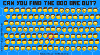 Answer of  Find The Odd Emoji Picture puzzle