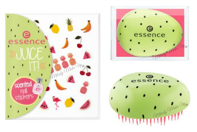 Essence juice it pegatinas, cepillo